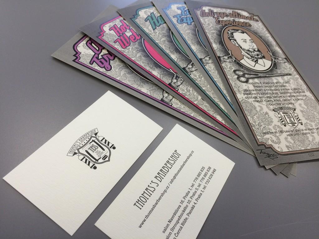 Pravidelný tisk vizitek, voucherů a produktových etiket