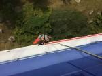 Instalace z lana - nebylo možné přistavit plošinu