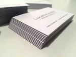 Exkluzivní vrstvené vizitky. Bílý / černý / bílý karton - 700g